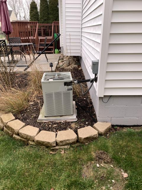 Lewis Center, OH - I found that the capacitor is reading slightly low and the Trane air conditioner needs refrigerant. I added refrigerant and tested the pressures and the line temperature. System is operating properly and cooling at time of departure.