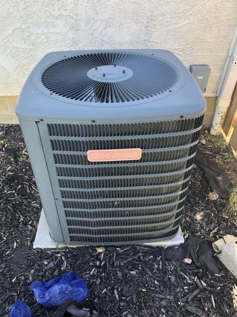 Lewis Center, OH - I found that the Goodman air conditioner was not cooling the home due to being low on refrigerant. I added refrigerant and cycled the system. The system is cooling and operating properly at this time.