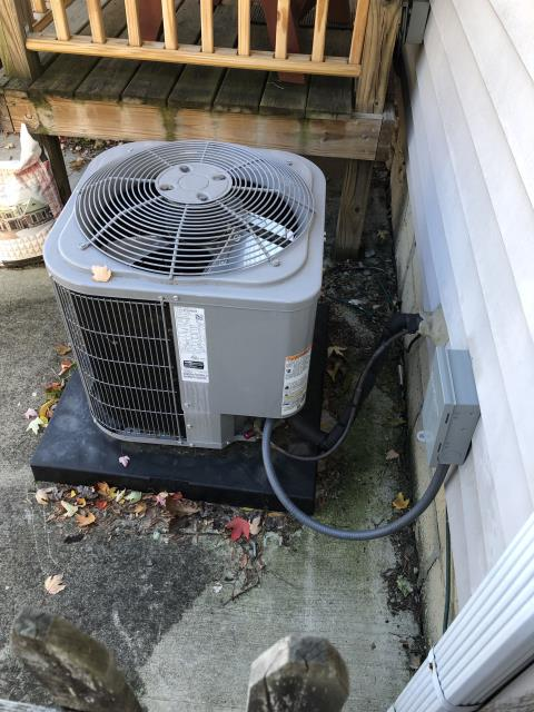 Columbus, OH - I completed a diagnostic service call on a Carrier air conditioner. I determined the drain line was clogged, I cleaned the line and cycled the unit. Everything is cooling properly now.