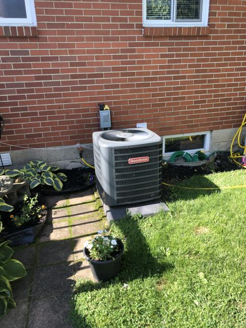 Columbus, OH - I completed a diagnostic on a Goodman air conditioner. I determined that the unit was undercharged. I charged the unit, cycled, and cooling is now operating as intended.