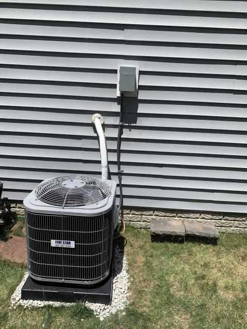 """Grove City, OH - After removing the Trane gas furnace and air conditioner, I installed a Five Star 80% 45,000 BTU Gas Furnace 3T 14"""" and a Five Star 13 SEER 2 Ton Air Conditioner.  Cycled and monitored the system.  Operating normally at this time.  Included with the installation is a free 1 year service maintenance agreement."""