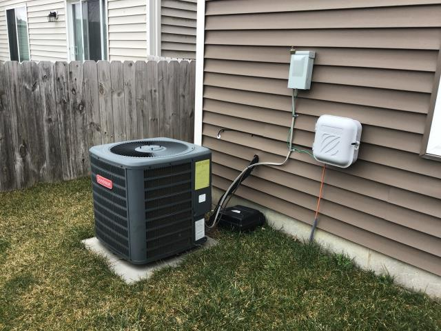 Lockbourne, OH - I completed a diagnostic service call on a Goodman air conditioner. I determined that the unit needed a new capacitor. Customer opted to replace, I replaced the capacitor, cycled the unit and everything is operating as intended.