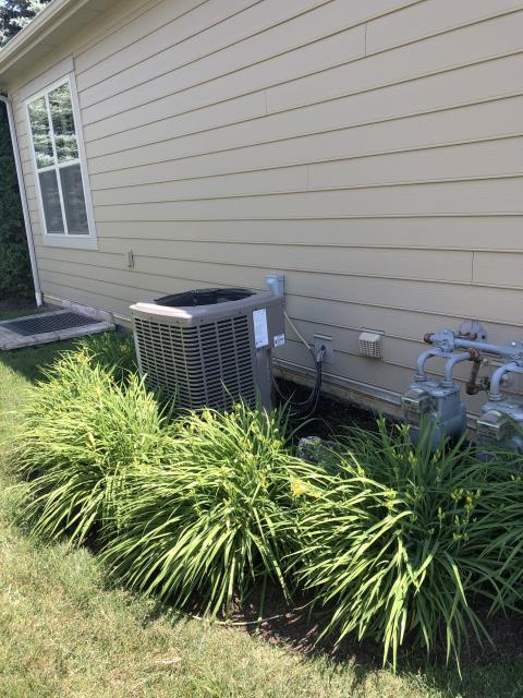Powell, OH - I completed a return service on an air conditioner to recharge the unit and check the pressures. Unit is operating as properly.