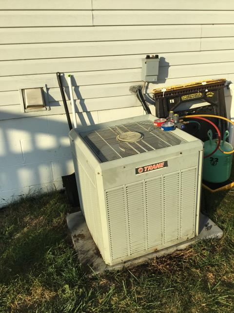 Lancaster, OH - I arrived on site to perform an inspection on a Trane air conditioning unit. During the inspection I found that the unit had a bad blower motor that was not spinning. I called in to the warehouse to get a new blower motor. The unit was not operational at the time of departure.