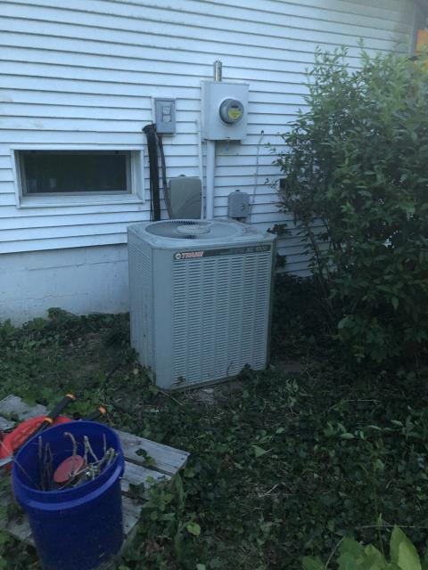 Lancaster, OH - I arrived on site to perform an inspection on a Trane air conditioning unit. During the inspection I found that the unit's drain pan was cracked and wearing out and their furnace filter needed replaced. The customer will replace the furnace filter and I will check for the price of the drain pan. The customer was also made aware of the age of the unit and that they may need to look at replacing it. The unit was cooling as intended at the time of departure.