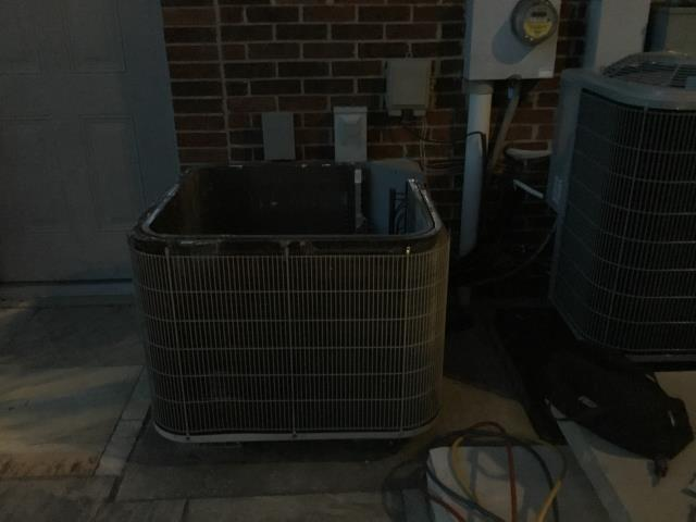 Baltimore, OH - I arrived on site to perform an inspection of a Bryant air conditioning unit. During the inspection I found that the unit was low on refrigerant and was running on a 30AMP breaker, which was undersized and causing electrical issues.  Due to the cost of R-22 refrigerant and the cost of replacing the parts damaged by the electrical issues, the customer will decide on whether to go through with the repairs or a new unit.