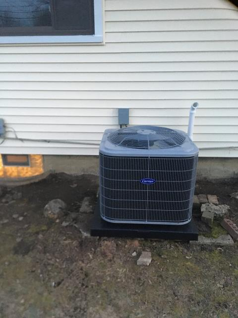 Dublin, OH - I arrived on site to perform a diagnostic on a Carrier up to 16 SEER 2 Ton Air Conditioner that we installed. The unit was taking longer to cool, which was caused due to the fact that the unit was turned off during the day and the unit was only on at night, causing it to take for ever. I explained to the customer that the unit needs to cycle completely since the interior of the house was hot. The unit was running at full functionality at the time of departure.
