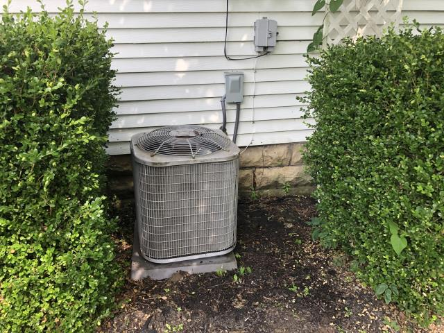 Westerville, OH - I arrived on site to perform an inspection of the customers air conditioning unit. During the inspection I found that the unit was not getting enough voltage, which was caused by a bad motor capacitor. I replaced the capacitor and the unit was running at full functionality at the time of departure.