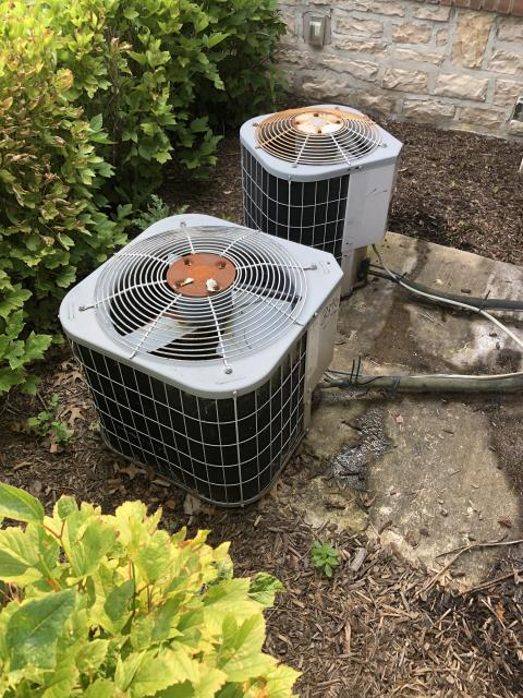 Powell, OH - I arrived on site to perform an inspection of a Carrier air conditioning unit. During the inspection I found that the unit's capacitor had worn out, causing it to provide energy to the unit. I replaced the capacitor and the unit was running at full functionality at the time of departure.