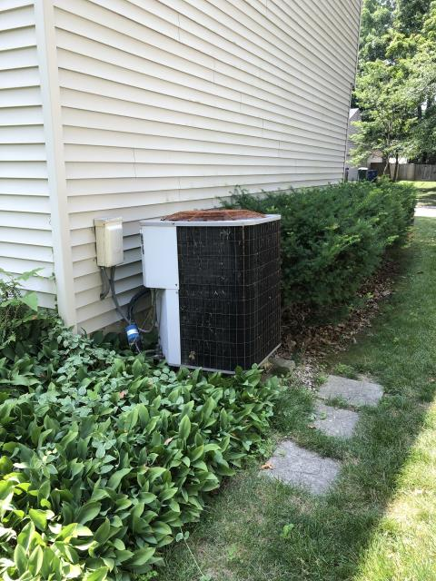 Dublin, OH - I arrived on site to perform an inspection on a Carrier air conditioning unit. During the inspection I found that the unit's capacitor had worn out, causing it not to provide enough voltage to the system. I replaced the capacitor and the unit was running at full functionality at the time of departure.