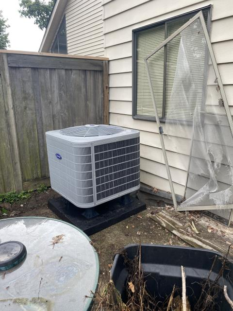 Baltimore, OH - I arrived on site to perform an inspection on a Carrier heat pump. During the inspection I found that the filter size was incorrect, causing condensation build up around the furnace. I replaced the furnace filter with the correct size and the unit was running at full functionality at the time of departure.