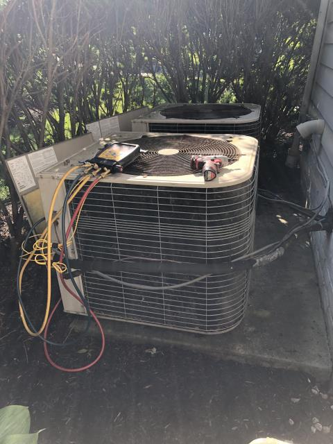 New Albany, OH - I arrived on site to perform an inspection of a Lennox air conditioning unit. During the inspection I found that the unit's control board and blower motor were damage. The unit was also low on R-22 refrigerant. Due to the age of the unit and the cost of replacement parts and refrigerant, I discussed options to the customer.