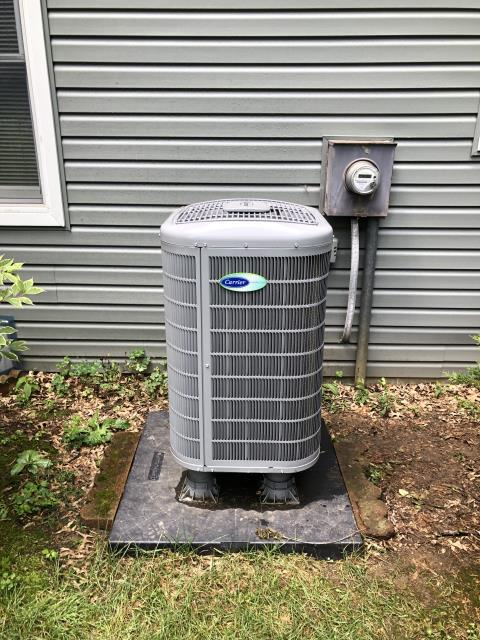 """Westerville, OH - I arrived on site to install a furnace rack for a customers Carrier """"Infinity Series"""" up to 18 SEER Variable-Speed 3 Ton Heat Pump. I replaced the furnace rack and the unit was running at full functionality at the time of departure."""