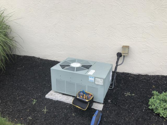 Groveport, OH - I arrived on site to perform an estimate for a Rheem air conditioning unit. Due to the age of the unit and the numerous issues being discovered during the inspection the customer opted to replace the unit. Unit not operational at the time of departure.