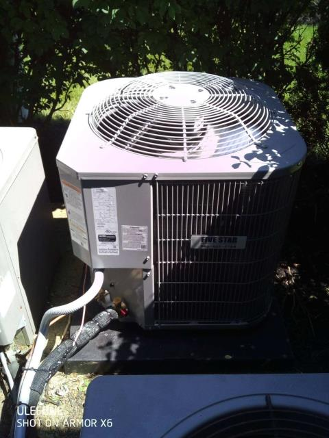 Westerville, OH - I arrived on site to perform an inspection on a Rudd air conditioning unit to see if it was running up to code. The unit was running at full functionality and it was running at the time of departure.