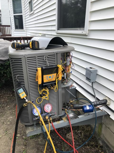 Blacklick, OH - I delivered a portable air conditioner to a client for temporary cooling until the parts come in to fix the Air conditioner.