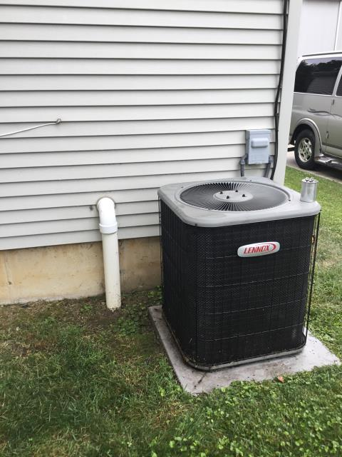 Canal Winchester, OH - I completed a diagnostic on a Lennox air conditioner. I determined that the condenser fan motor is bad and needs replaced. Part has been ordered will return to do repair when part comes in