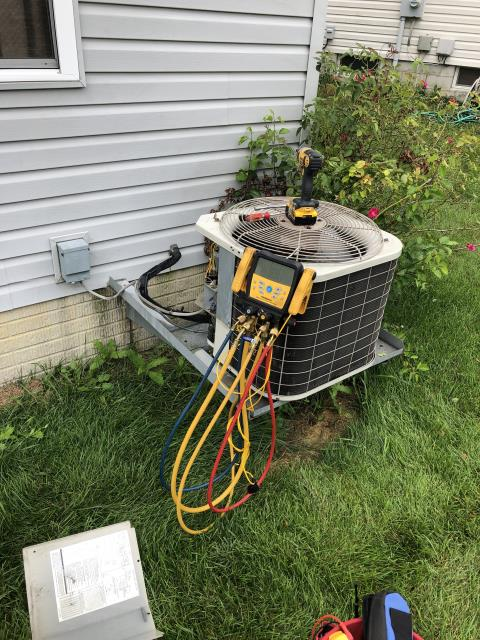 Blacklick, OH - I performed maintenance on a Bryant AC unit. I replaced the condenser fan motor and capacitor. System is operational at this time.
