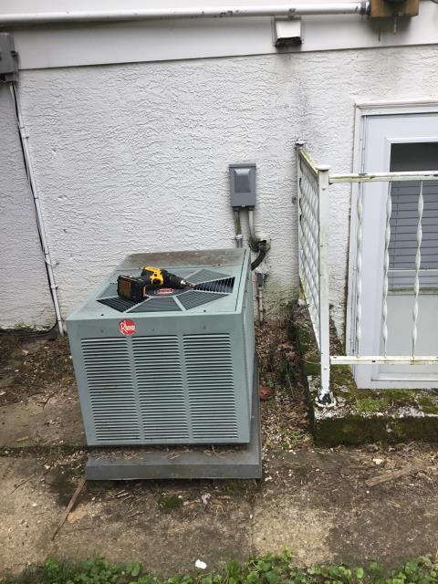 Westerville, OH - I completed the spring tune up on a Rheem air conditioner.  I visually inspected the furnace.  Checked voltage and amps. I inspected the evaporator coil.  I checked the temperature difference across the coil.   Checked refrigerant charge, voltages and amps.  I rinsed the condenser coils with water.  Cycled and monitored the system.  Operating normally at this time.