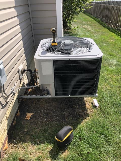 Delaware, OH - I completed a diagnostic on an ICP AC unit. I found that the condenser would not turn on, and upon further inspection found that the capacitor had failed. The customer allowed me to replace the capacitor. I replaced and let the unit cycle. The system is now operating normally at this time.