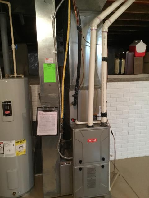 New Albany, OH - I completed a heating tune up on a Bryant gas furnace. I visually inspected the unit. Checked voltages, amps and pressures. Completed combustion analysis. Cycled and monitored system. Operating normally at this time.
