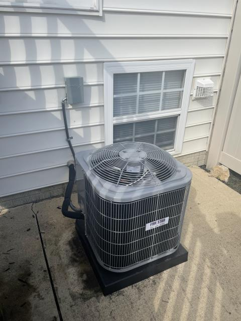 New Albany, OH - I completed a half install on a Five Star 13 SEER 2 ton air conditioner. I cycled and monitored the system. System is operational upon departure.