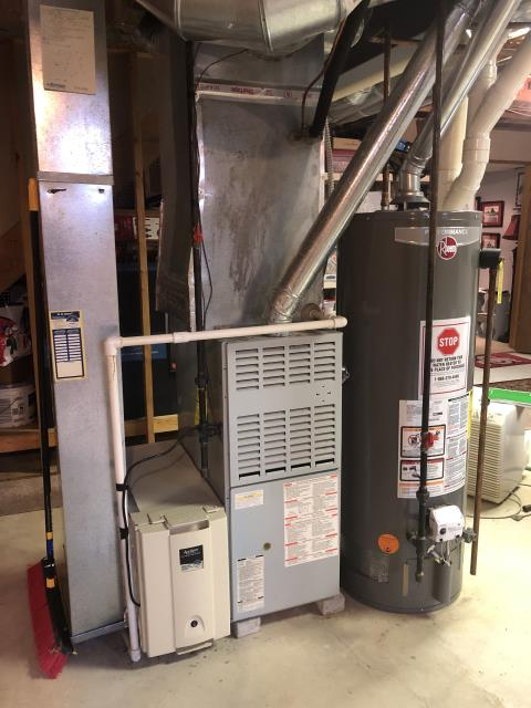 Grove City, OH - Upon arrival I completed Half Install of a Carrier 96% Gas Furnace 59SC5 (Up to 100,000 BTU). The system is operational upon departure.