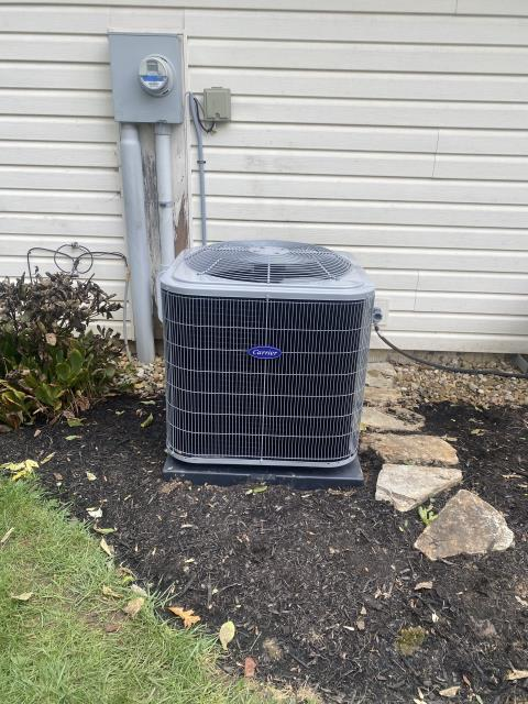 Granville, OH - I completed a full install on a Carrier gas furnace and a Carrier 16 SEER 2.5 ton air conditioner. I cycled and monitored the system, Operating normally at this time.