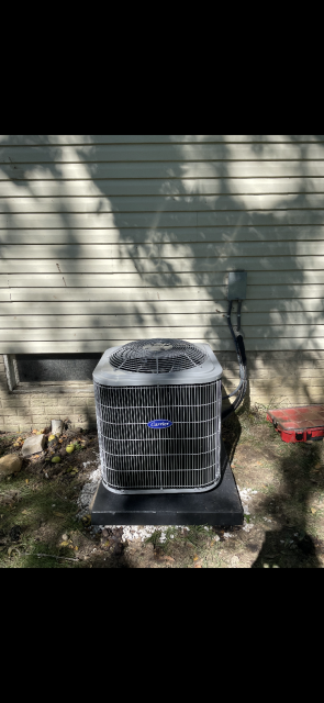 Pataskala, OH - I completed a full install on a Carrier gas furnace 80% and a Carrier 13 SEER 2.5 ton air conditioner. I cycled and monitored the system. Operational upon departure.