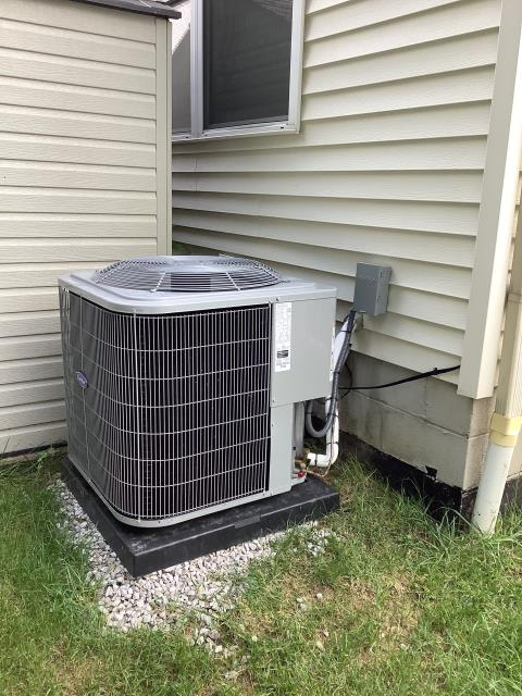 """Canal Winchester, OH - I completed an installation inspection on a Carrier """"Infinity Series"""" 80% 2 Stage Variable Speed 70,000 BTU Gas Furnace and a Carrier 16 SEER 2.5 Ton Air Conditioner. I completed the installation checklist and cycled and monitored the system. Everything is operating normally at this time."""