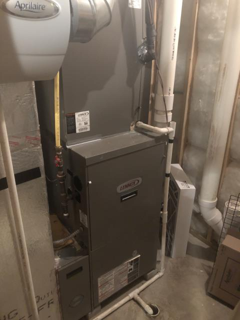 Dublin, OH - I completed the scheduled maintenance agreement fall tune up on a Lennox gas furnace.  I visually inspected the unit.  Checked voltages, amps and pressures.  Completed combustion analysis.  Cycled and monitored system.  Operating normally at this time.