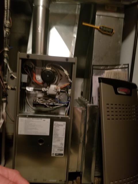 Columbus, OH - I completed a heating safety tune up on a Lennox gas furnace.  I visually inspected the unit and checked voltages, amps and pressures.  The customer explained basement had been humid over the summer and other issues. I recommended a air cleaner, but wanted to hold off. I completed combustion analysis. I then cycled and monitored system.  Operating normally at this time.
