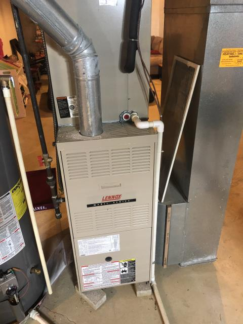 Blacklick, OH - I completed a heating tune up on a Lennox gas furnace.  I visually inspected the unit and checked voltages, amps and pressures.  I completed combustion analysis and cycled and monitored system.  It is operating normally at this time.
