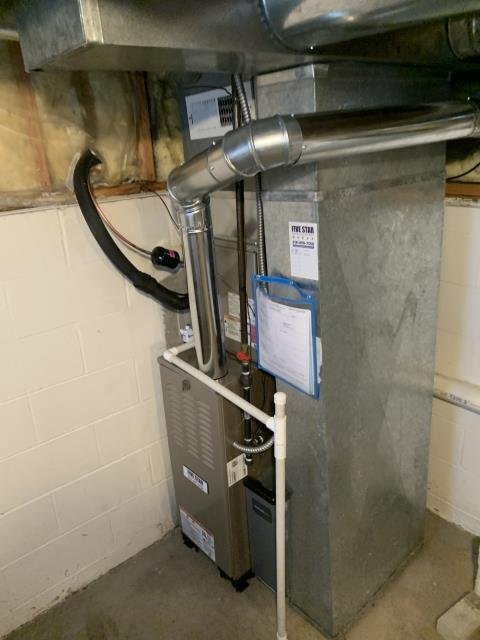 """Reynoldsburg, OH - I installed a Five Star 80% 45,000 BTU Gas Furnace 3T 14"""" and a Five Star 13 SEER 2.5 Ton Air Conditioner. I cycled and monitored the systems and they are operating properly at this time."""