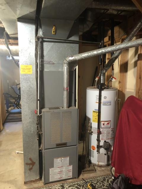 Pickerington, OH - I completed a heating tune up on a Comfortmaker gas furnace. I visually inspected the unit and checked voltages, amps and pressures. Completed combustion analysis. Then I cycled and monitored the system. It is operating normally at this time.