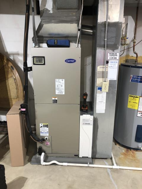 Westerville, OH - I completed a heating tune up on a Carrier electric furnace. I visually inspected the unit and checked voltages, amps and pressures. Completed combustion analysis. Then I cycled and monitored the system. It is operating normally at this time.