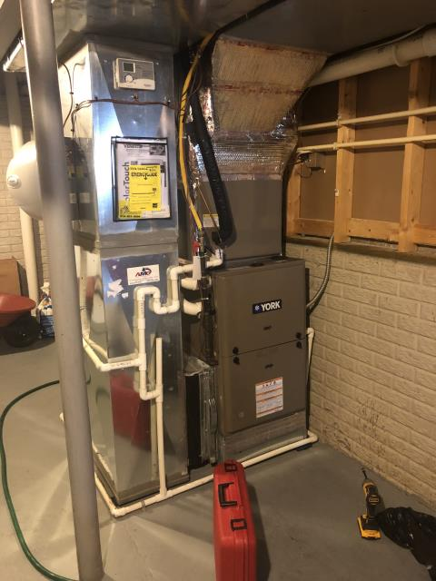 Pickerington, OH - I completed a diagnostic on a York gas furnace. The customer stated that the furnace would not turn on. Upon inspection of the furnace I found the inducer motor was trying but would not turn on and found the bearings are locked. I could not find clear indications to why this was going on, but explained to the customer it needs replaced. The customer approved the repair. I turned the system off upon departure.