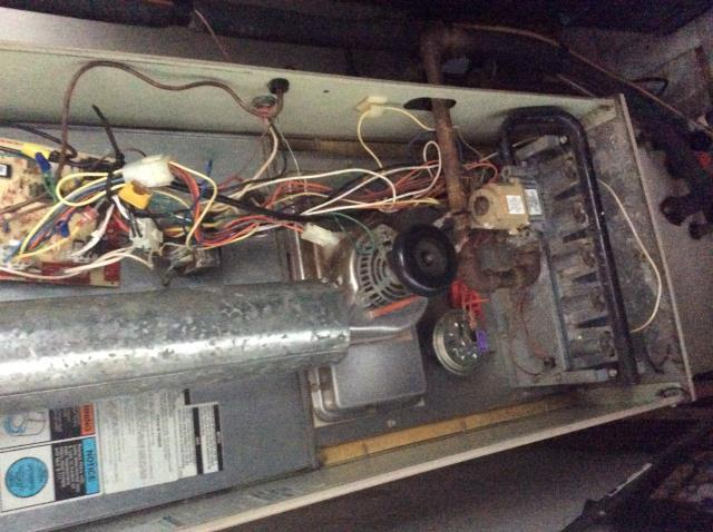 Gahanna, OH - Lennox furnace repair. Flame sensor malfunction along with system overheating