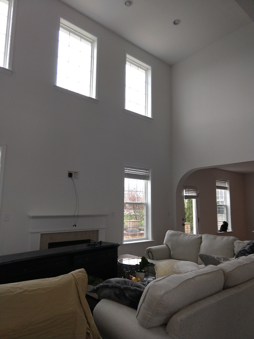Transforming a great room and home with a fresh coat of snowbound white!