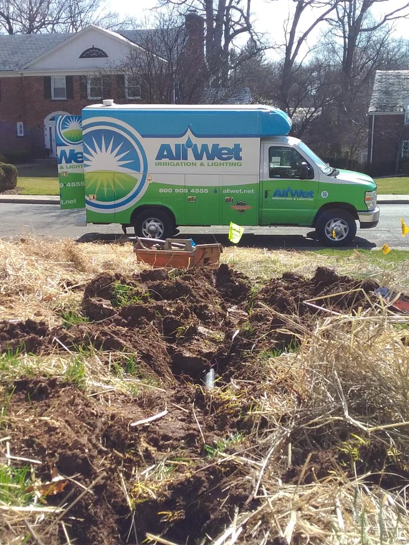 South Orange, NJ - Turn on irrigation system and reconnect line broken