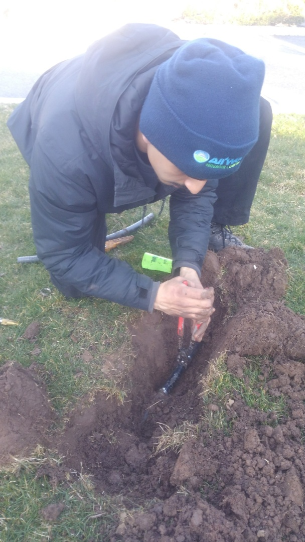 Cedar Grove, NJ - Repair sprinkler pipe break