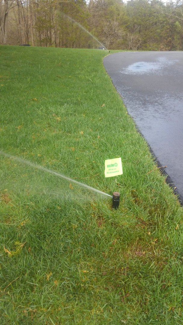 Far Hills, NJ - Turn on customers sprinkler system with hydrawise app so they didn't have to be home.