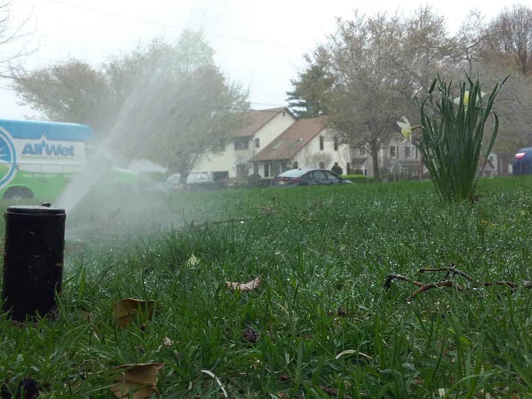 Glen Rock, NJ - Turn on the irrigation system