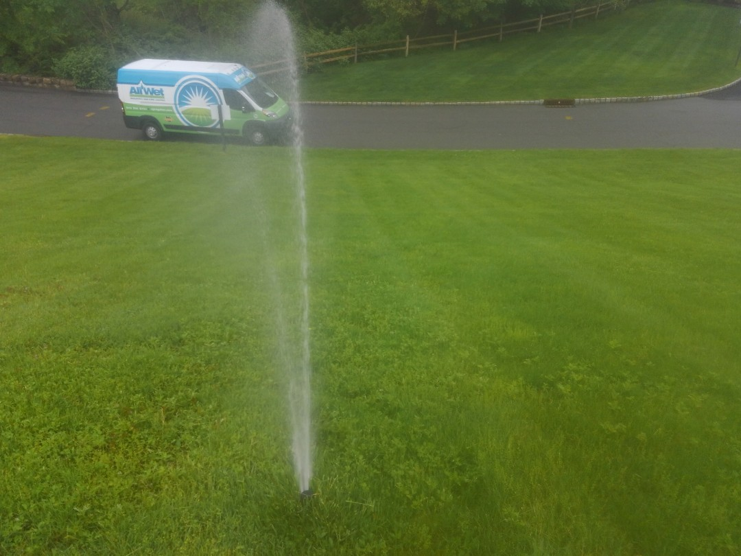 Mendham, NJ - Turn on irrigation from a pump, for the community entrance