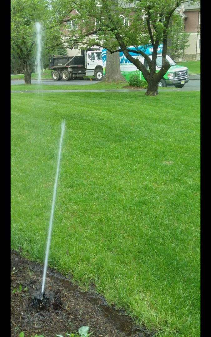 Millburn, NJ - Turn on the irrigation system