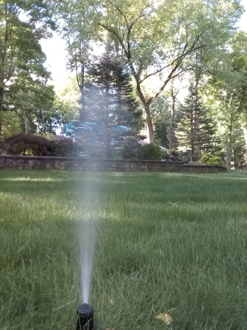 Bernardsville, NJ - Turn on the irrigation system