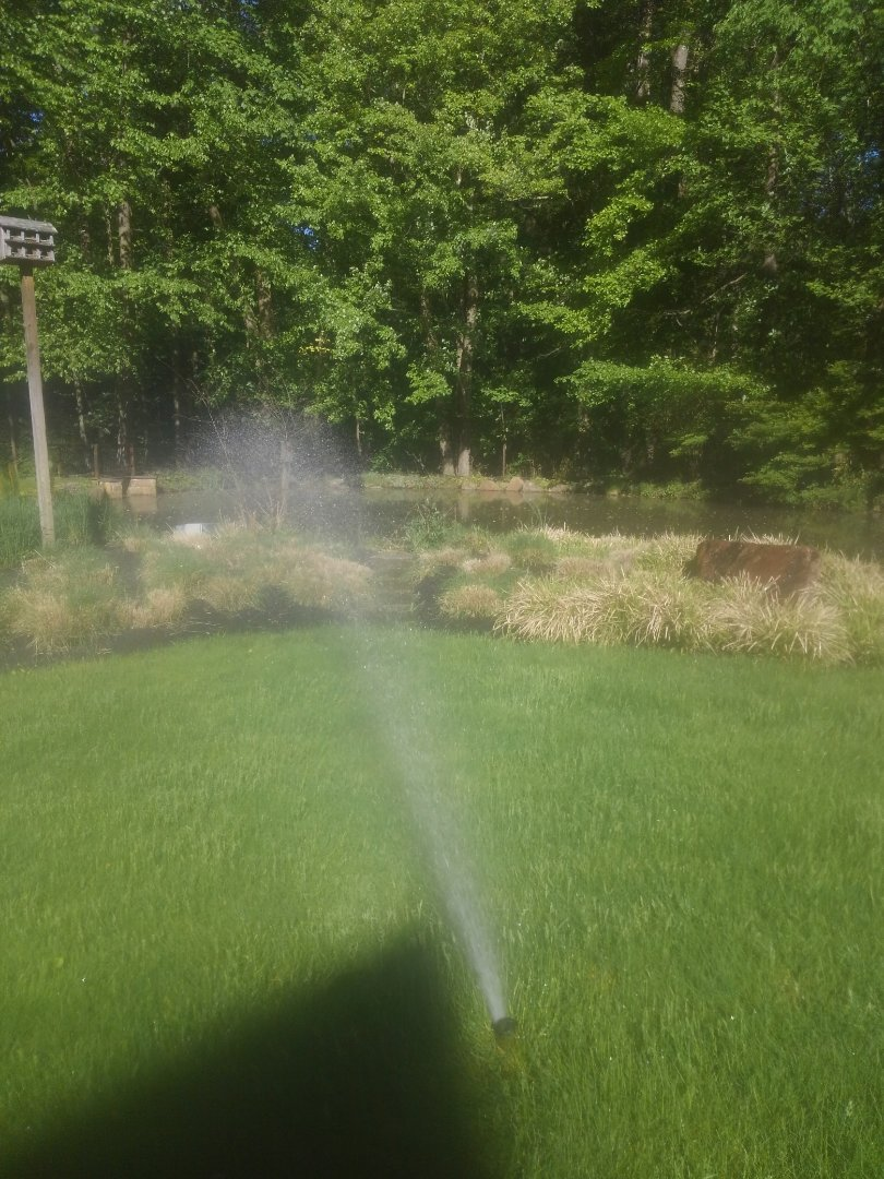 Start up irrigation system pulling out of a pond