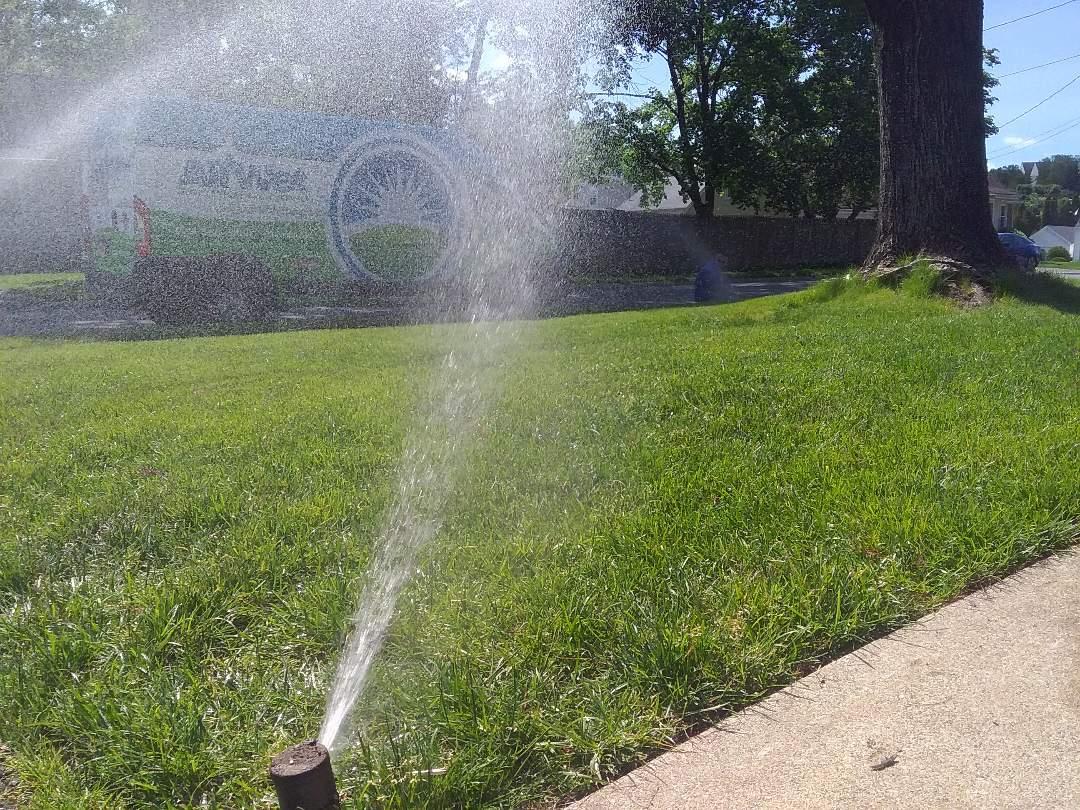 Same day sprinkler system start up and service!!! =)