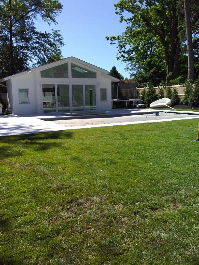 Maplewood, NJ - Installed 4 zone irrigation system in back yard Installed a backflow and a hydrawise controller