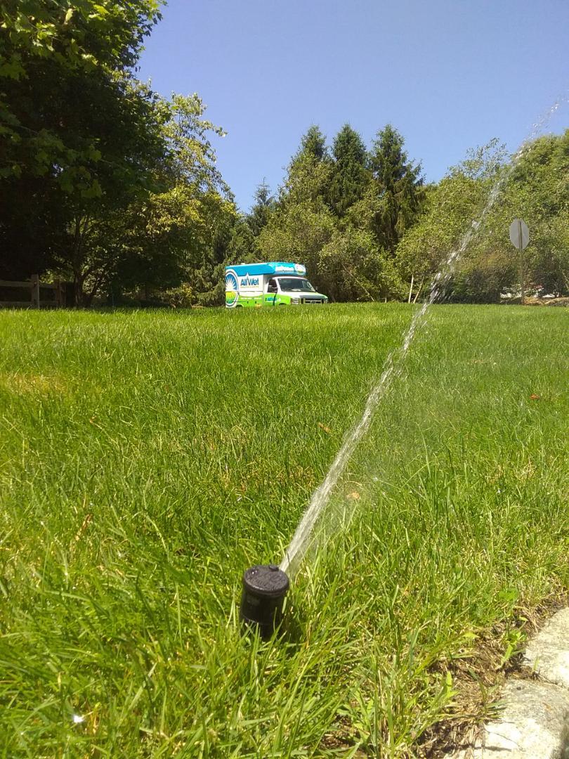 Mendham, NJ - Adjusted sprinklers heads in the irrigation system
